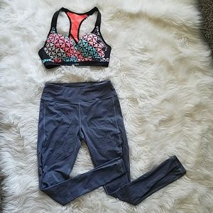 Victoria's secrect sports bra and legging set